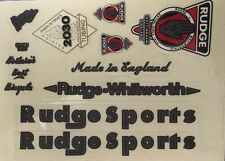 Rudge-Whitworth Bicycle Stickers