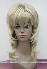 Excellent Blonde Mixed Medium Long Level Anti-Alice Women Ladies wig FYTLC092