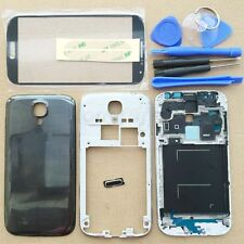 Black Full Housing Case + Screen Glass Lens + Tools For Samsung Galaxy S4 i9500