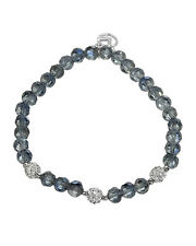 Lovely Ladies / Girls Bracelet With Genuine Crystal 925 Sterling silver 6in
