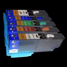 5 REFILLABLE EMPTY PRINTER CARTRIDGES EPSON EXPRESSION XP620 XP700 XP710 NON OEM