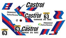 #63 Garage DU BAC BMW M3 1987 1/64th HO Scale Slot Car Decals