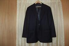 Carolina Herrera Black Wool Light Weight Fabric Jacket Blazer Size 41