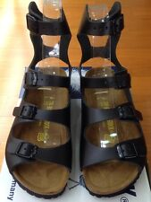 Birkenstock Athen 032191 Size 36 L5-5.5 R Black Leather Sandals