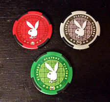 Playboy Chip Poker Casino Las Vegas Set of 3 Playboy Bunny Mint