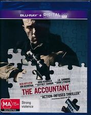 The Accountant Blu-ray + Digital Ultraviolet NEW Ben Affleck