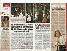 Coupure de presse Clipping 1996 Concert le plus recherché Musikverein 1 pge 1/3