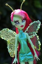 Custom OOAK One of a Kind Art Monster High Doll Venus Repaint Turned Butterfly
