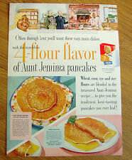 1955 Aunt Jemima Pancakes Ad Guests at Colonel Highbee's Plantation