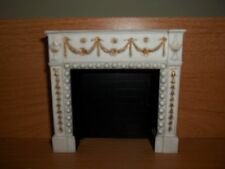 GREY  MINIATURE  FIREPLACE  - DOLL HOUSE MINIATURE