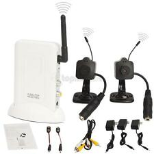 2.4GHz Receiver Surveillance Wireless Mini Indoor Security Camera Full Kit Audio