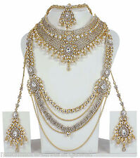 3121 Indian Fashion Jewelry Asian Bollywood Set FULL Heavy Bridal Dulhan CZ Sets