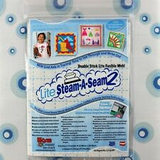 "LITE STEAM-A-SEAM 2 - 9"" x 12"" SHEETS - DOUBLE STICK FUSIBLE WEB"