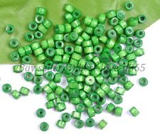 200pcs Green Bead Wood Tube Spacer Beads 4X3MM