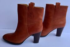 Ralph Lauren Women's 9M US Whiskey Stacked Heel Pull On Ankle Boots Preowned