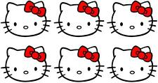 6 X HELLO KITTY MINNIE/SMALL IRON ON T SHIRT TRANSFERS LIGHT/WHITE FABRICS #2