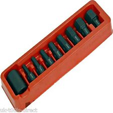 "9pc Hex Allen Key Bit Set 1/2"" Drive Socket 6 - 19mm S2 Steel"