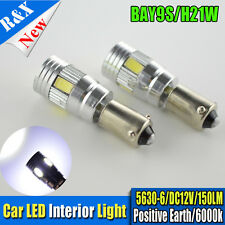 2X Bay9S H21W 435 Canbus 5630 6Smd LED Bulb Xenon White Reverse Interior Light