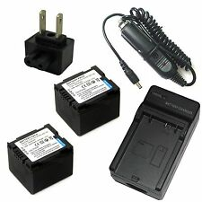 Charger + 2x Battery for Panasonic VDR-D210 VDR-D220 VDR-D230 VDR-D250 VDR-D258