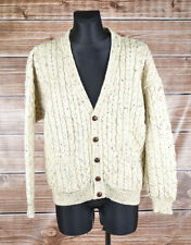 Castle Fionn Ireland Men Wool Cardigan Sweater Size L, Genuine