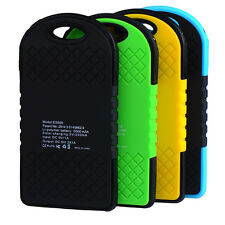 Waterproof 5000mAh Portable Solar Charger USB Battery Power Bank For Cell Phone