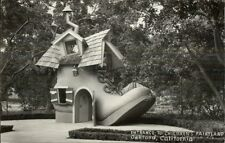 Oakland CA Children's Fairyland Giant Shoe Real Photo Postcard