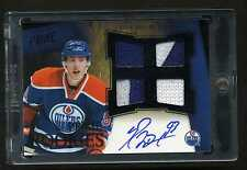 2011-12 Panini Prime Rookie Ryan Nugent Hopkins Auto Jersey Patch 06/10 Black