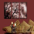 3 Piece Wall Art - Nature - Dark Tree - Plexi Glass Art - Total Area 2.5' x 3'