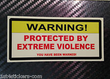 STICKER PROTECTED BY EXTREME VIOLENCE OUTLAW ANGELS 666 HELLS BIKER 8 1