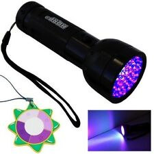 HQRP Portable Ultra Violet Black Light Torch Light Fake Money Detector +UV Meter