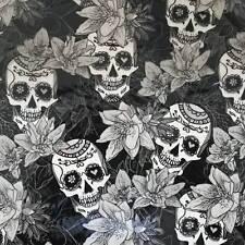 Wassertransferdruck Folie Blume Skulls - 50cm breit