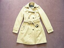 Zara beige cotton double breasted belted trench coat or mac VGC UK 8/10