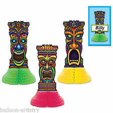 3 tropicale Hawaii Tiki simboli Estate Bbq Party 15cm Mini Decorazioni Tavola