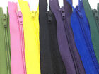 50 Assorted Nylon Closed End Zips - For Dress Upholstery Craft & Zip Repair