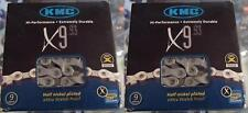"""KMC X9.93-9-24 SPEED 1/2"""" X 11/128"""" MTB-ROAD NICKEL PLATED BICYCLE CHAINS-1 PAIR"""