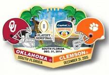 Official 2015 Capital One Orange Bowl Pin Clemson Tigers vs Oklahoma Sooners