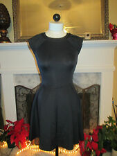 Chic! TED BAKER LONDON Stretch Fit & Flare Black Dress New without Tags 0 (2 US)