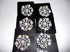 wholesale  Lot of 6 pcs pretty Vintage  Brooches/pin  for Wedding .