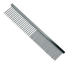 "GROOM PROFESSIONAL FINE/COARSE DOG  GROOMING COMB. 7 3/8"" IN CHROME."