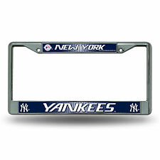 New York Yankees Metal Chrome License Plate Frame Auto Truck Car MLB