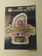 Chicago Cubs, WORLD SERIES CHAMPIONS, 2016, SHIMMER DECAL.