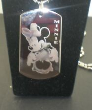 MINNIE MOUSE Dsiney Dog Tag Pendant Necklace