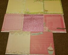 BEST CREATIONS 12X12 GLITTER DOUBLE SIDED CARDSTOCK 8 PCS GIRL'S 16TH BIRTHDAY