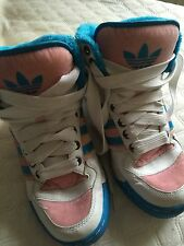 Ladies Velvet And Velour Basketball Boots size 5/38 Pink & Blue Adidas Originals
