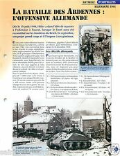 Panther Battle Bataille des Ardennes WWII Germany 1944 FICHE CHARS TANKS