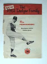 RARE 1961 The New Dodger Family Baseball Magazine Dodgers Perranoski Union Oil