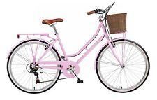 """Viking Belgravia 26"""" Wheel Womens Bike 6 Speed 16"""" Frame Front Basket Pink VG407"""