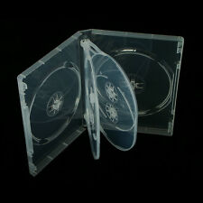 10 x 6-WAY NEW CLEAR DVD CD DISC CASE 22mm SPINE REPLACEMENT SLEEVE