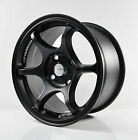 4pcs ADVAN RACING RG2 FLAT BLACK Alloy Wheels 15 4X114.3 RIM KT06