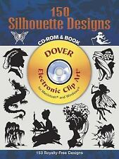 150 Silhouette Designs (Dover Electronic Clip Art) (CD-ROM and Book)-ExLibrary